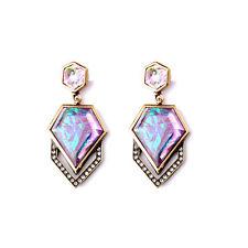 E840 Betsey Johnson Pantone Pink Oyster Shell Crystal Bridal Wedding Earrings UK
