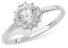 Markenlose Ringe im Cluster-Stil aus Sterlingsilber mit Edelsteinen