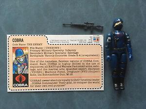 1983 GI JOE Cobra Soldier Trooper Figure Uncut Red Back File Card Mail Away