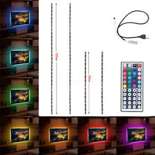 USB Powered RGB Colour Change 5050 LED Strip Computer TV PC Back Light Kit 5V