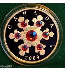 2009 Canada Silver $20 Rose Crystal Snowflake - mint condition - all org pkg