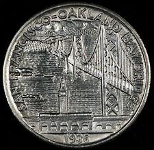 PARTING OUT SET. NICE BU DETAILS 1936-S BAY BRIDGE COMMEMORATIVE HALF DOLLAR!