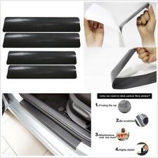 Car Carbon Fiber 3D Door Sill Scuff Plate Cover Anti Scratch Sticker Accessories