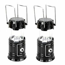 5800-T Rechargeable Solar Camping Lantern (Black) Set of 2