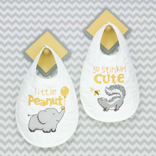 Dimensions - Stamped Cross Stitch Kit - Baby Bibs - Stinkin' Cute - D70-74829