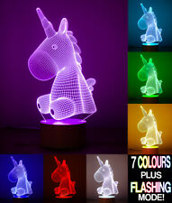 Unicorn 3D optical Illusion Lamp