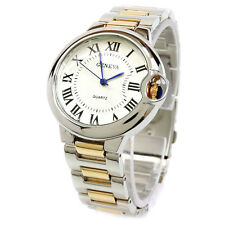 2Tone Geneva Large Case Classic Roman Dial Women's Bracelet Quartz Watch
