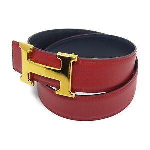 Hermes Belt  Reds Gold Leather 1526363
