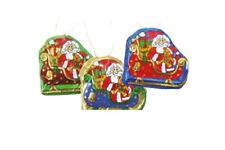 4 x Santa Sleigh chocolate tree decorations novelty sweets Boys Girls Christmas