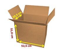 10 x Versandkarton Faltkarton Umzug 2-Wellig 525 x 510 x 205 mm Braun NEU