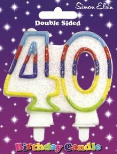 Happy Birthday Candle Number 40 40th Forty Party Birthday Party Cake Decoration