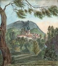 WERTHENSTEIN ENTLEBUCH LUCERNE SWITZERLAND Watercolour Painting E CAMPBELL 1821