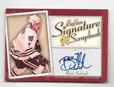 2005-06 autographed Bee Hive hockey card Brent Seabrook Chicago Blackhawks
