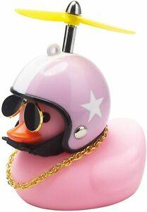 Duck Bike Pink Bell Handlebar Bicycle Horns Rubber Duck Bicycle Accessories