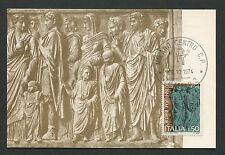 Italia MK 1979 ITALY Ara Pacis avvocato maximum scheda MAXIMUM CARD MC cm d2210