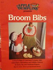 Vintage Apple Dumplins Craft Pattern Book Broom Bibs kit fabric Christmas baby