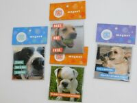 Dog Magnets Puppy Rescue Dog Lovers Lot of FOUR