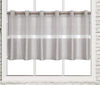 Scheibengardine Ösen Panneaux Bistrogardine 2248 05 50 x 140 cm Silber Grau