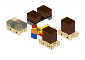 Lego MOC Warehouse - Model PDF Instructions Manual