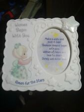 Precious Moments 1998 Wishes Begin With You Frame Poem Reach For The Stars