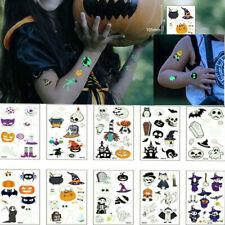 DIY Halloween Luminous Temporary Tattoos Sticker Fake Tatoo Body Art Waterproof
