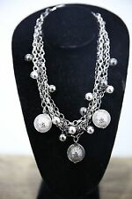 Women's Silver Necklace Chain Ball Fashion Costume Jewelry Silver Gunmetal