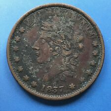 1837 Hard Times Token Copper - Millions For Defense One Cent For Tribute #7445