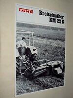 Prospectus FAHR KREISELMAHER  Tracteur Tractor Traktor Prospekt Brochure