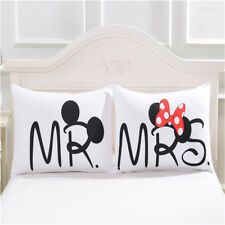 SET PAR Fundas Almohada Disney Mickey Minnie Mouse Dormitorio 50x75cm - 4 MODELO