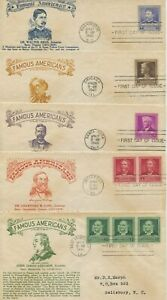 1940 FDC , CROSBY FAMOUS AMERICANS SET