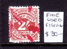 Nsw: Swine Stamp Duty 2/ Used And Scarce.