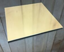 """1/8 BRASS SHEET PLATE NEW 10""""X10"""" .125 Thick *CUSTOM 1/8 SIZES AVAILABLE*"""