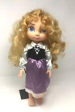 "Disney Store Animators Collection AURORA 16"" Toddler Doll Sleeping princess"