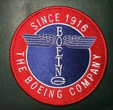 """BOEING 100TH ANNIVERSARY """"TOTEM POLE"""" PATCH, 4"""" W/HOOK AND LOOP BACK, NEW"""