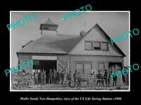 POSTCARD SIZE PHOTO OF WALLIS SANDS NEW HAMPSHIRE US LIFE SAVING STATION c1900