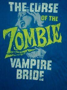 RETRO VINTAGE DISTRESSED THE GAP DISTRESSED VAMPIRE ZOMBIE BRIDE T-Shirt MENS L