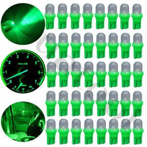 30Pcs Green T10 LED Interior Instrument Panel Guag Light bulbs 2825 168 194 154