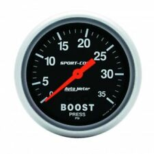 "Auto Meter 3404 2-5/8"" Sport-Comp Mechanical Boost Gauge, 0-35 PSI"