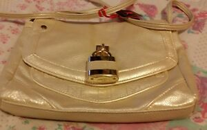 Woman's Playboy Gold/Cream shoulder bag☆Small  size ☆New☆