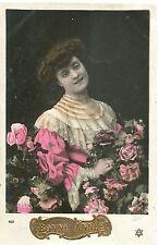 CARTE POSTALE FANTAISIE  GAUFFRE BONNE ANNEE  1909