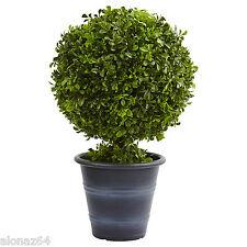 "23"" Boxwood Ball Topiary  Nearly Natural"
