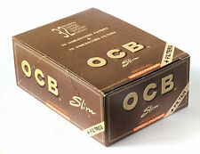1 box - OCB VIRGIN SLIM Unbleached Rolling paper King Size + FILTER TIPS
