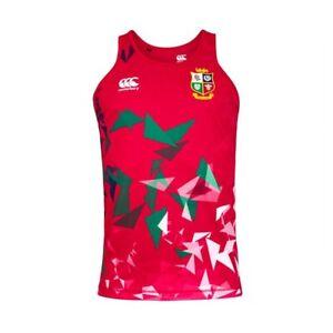 Canterbury British & Irish Lions Mens Rugby Union Singlet Vest Tank Top Red