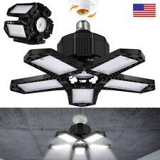 E27 LED Garage Light Bulb Deformable Ceiling Fixture Lights Workshop Lamp 5-Leaf