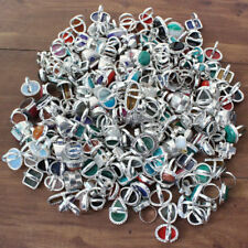 20PCS RING LOT MIX GEMSTONE JEWELLERY 925 STERLING SILVER OVERLAY