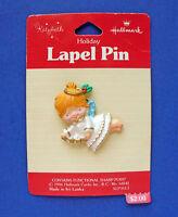 Hallmark PIN Christmas Vintage ANGEL KATYBETH Star Garland Holiday Brooch NEW