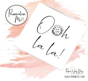 Ooh la la! Scratch & Reveal Card. Personalised Surprise Message Card. Customised