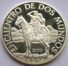 Uruguay 2000 Encuentro De Dos Mundos 250 Pesos Silver Coin,Proof