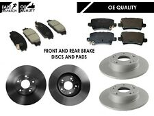 FOR HONDA CIVIC 2.0i V-TEC TYPE-R GT FN2 06-11 FRONT & REAR BRAKE DISCS AND PADS