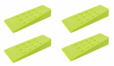 """Spiked Felling Wedges – 5.5"""" Inch Green Plastic Wedge – 4 Pack"""